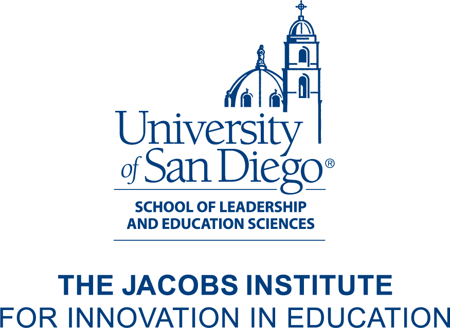 Logo: The Jacobs Institute for Innovation in Education in the School of Leadership and Educational Sciences at the University of San Diego